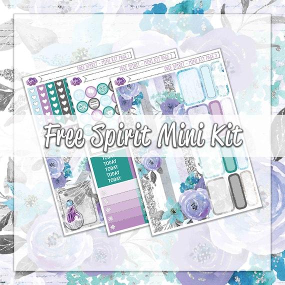 free spirit mini weekly decorative kit april spring florals blooms purple lavender summer. Black Bedroom Furniture Sets. Home Design Ideas