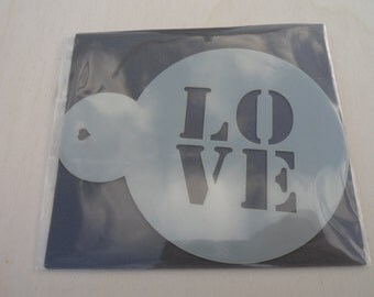 Love, Coffee/Cupcake  Stencil, Made from food safe Mylar
