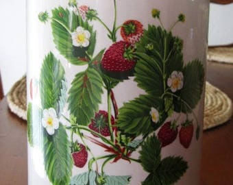 "Portmeirion Summer Strawberries 7"" Ceramic Canister"