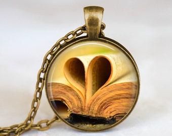 Heart Book - Handmade Pendant Necklace