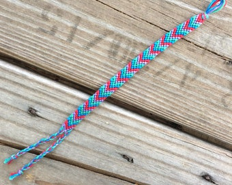 Ariel Chevron braided friendship bracelet, princess inspired, The Little Mermaid, macrame bracelet