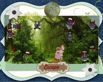 Little Bo Peep is in serious trouble; her sheep have gone rogue and she can't seem to see them. Buy this card and find those scary sheep.