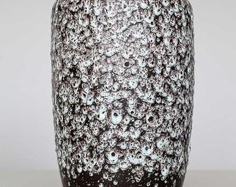 Big drip lava glazed vase by Scheurich 517-30, West German Pottery, 60ties