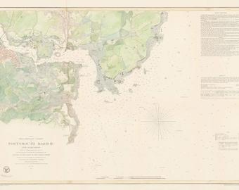 0533-Chart of Portmouth Harbor 1854 - Maine & New Hampshire