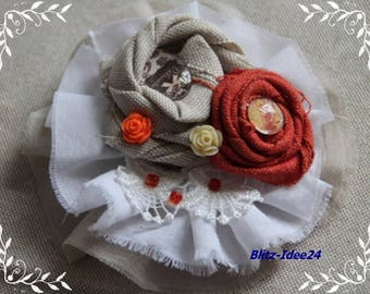 PIN, brooch, PIN, orange