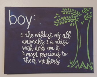 Boy Definition; Nursery or Play Room Decor