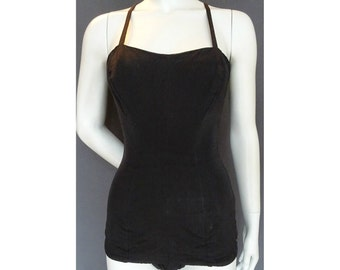 Vintage 1950s/50s Jantzen Black SWIMSUIT/Bathing Costume Pin Up