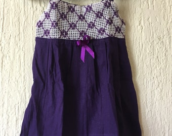 Purple Typical Mexican Dress for Baby Girl