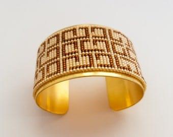 Random geometry Cuff Bracelet