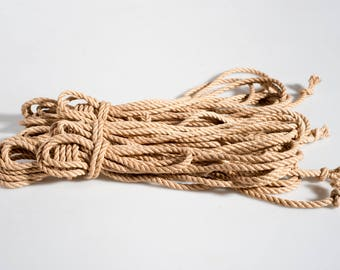 Jute  rope tossa shibari natural double ply  JBO FREE (3 ropes)