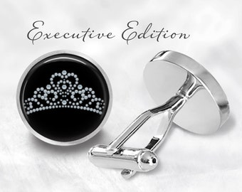 Pageant Crown Cufflinks - Beauty Cufflinks - Beauty Pageant - Crown Cuff Links (Pair) Lifetime Guarantee (S0263)