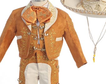 Camel with Gold Boys Charro Outfit
