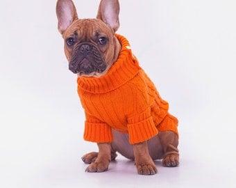 DogSweater Wool 100% orange