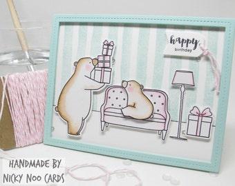 Handmade Card - Birthday Bears - Happy Birthday