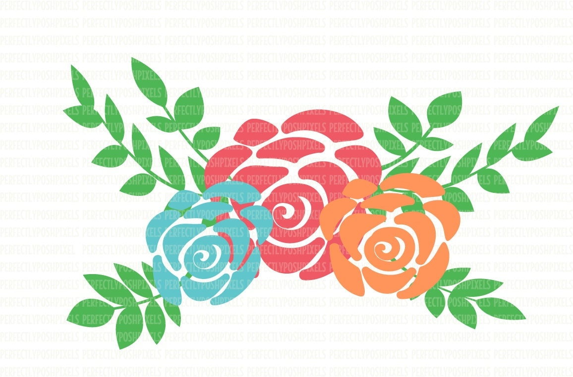 Download SVG Files Floral Swag silhouette cameo cricut design space