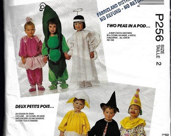 McCall's P256 Size 2 Halloween costumes, sewing pattern, uncut, 1990