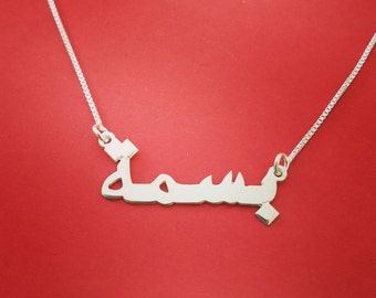 Egyptian Name Necklace My Arabic Name Necklace Arabic Nameplate Necklace Name Necklace In Arabic Necklace Egyptian Necklace
