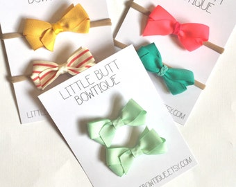 Set of 2 // Basic Boutique Style Hair Bow // 27 Colors