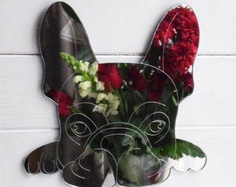 French Bulldog Cute Face Acrylic Mirror