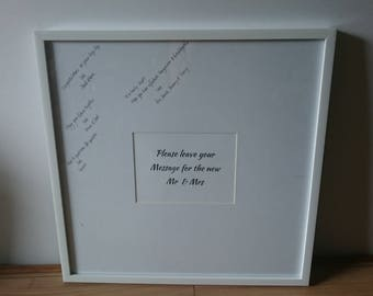 Guest Book Frame - 50cm's square - wedding reception - alternative guest book - unique guest book
