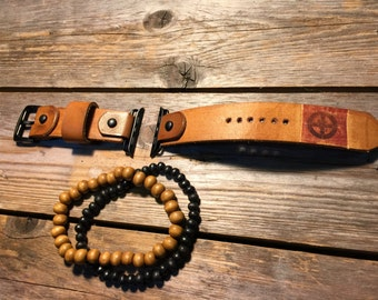 Leather watch strap, band, apple watch, Mens, Vintage 42mm, 38mm Men or Women