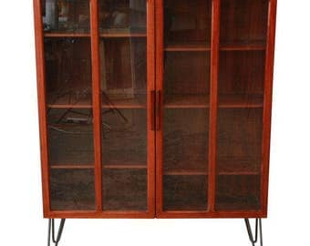 Ib Kofod Larsen for Faarup Møbelfabrik Danish Modern Rosewood Bookcase / Mid-Century Modern Bookcase