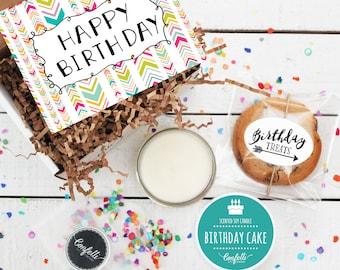 Mini Happy Birthday Gift Box - Send a Birthday Gift | Birthday in a Box | Friend Gift | Coworker Gift | Birthday Card