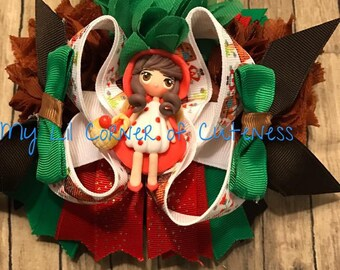 Little Red Riding Hood hair bow