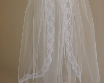 Lace Edge First Communion Veil