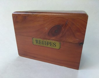 20% OFF Listed Price, Vintage Recipe Box, Wood Storage Box, #10