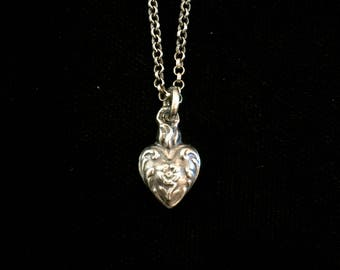 french sacred heart of marie ex voto necklace