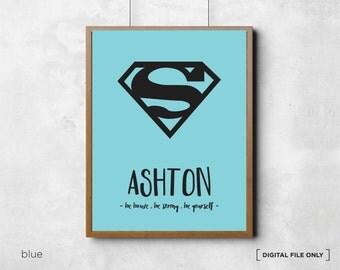 Superman Superhero Print, Superman Printables, Superhero Wall Art, Superman Print, Superman Wall Art, Superman poster, Superman Poster