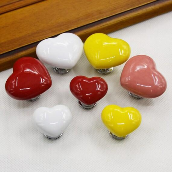 Heart knob kids dresser knobs drawer knobs pulls silver for Children s bureau knobs