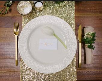 Table Runners For Wedding, 12 Table Runners For Wedding, Table Runner Gold, Gold Table Overlay, Sequin Table Overlay, Rose Gold Sequin