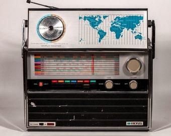 Vintage Ross Electronics World Master Solid State Multi-Band Radio - Vintage Radio - 1970's Radio - Vintage Multi Band Radio - Radio