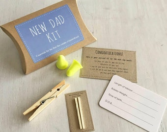 New Dad Kit - New Dad Gift - New Fathers Kit - First Time Dad Kit - New Dad - Humorous New Dad Kit - Comedy New Dad Kit - Funny New Dad Kit