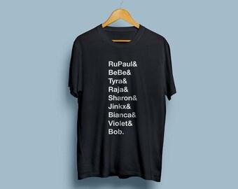 Drag race inspired tshirt black tshirt unisex tshirt graphics tee