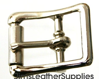 "5/8"" buckle - center bar - true roller - 100 pack - nickel plated steel buckles (#1212)"