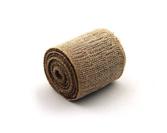 "SALE!!  4"" Natural Burlap Jute Ribbon Wire Edge - Sold in 10 Yard Rolls"