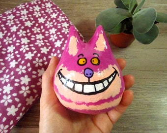 The Cheshire Cat - Painted and varnished argile sculpture