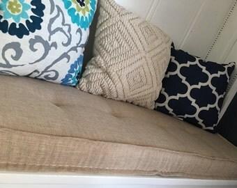 farmhouse cushions custom bench cushions window seat cushion french mattress cushion banquette