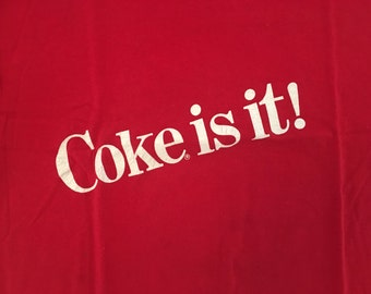 Vintage Coca Cola Tshirt - 80s Coke TShirt - Coke - Vintage Coca Cola Tshirt - XL * Made In USA