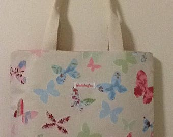Butterfly Handbag,tote bag, book bag,butterfly bag,bagwith butterfly print,Fabric Shopping bag,shoulder bag