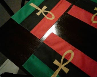 RBG Ankh Place Mat Dinning table Flag Pan African placemat Garveyite