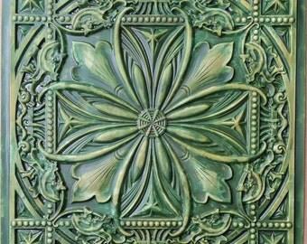 faux ceiling tile wallpaper