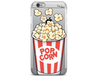 iPhone 8 Case Clear iPhone 8 Plus Case iPhone X Case iPhone 7 Plus case Clear iPhone 7 Case iPhone 6 Case Samsung S8 Case,Popcorn