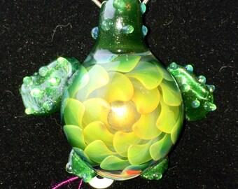 Glass Turtle Pendant