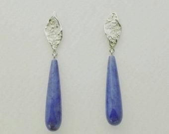 ATITLAN Earrings with purple gemstones