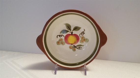 Stangl Apple Delight Lug Soup Bowl #5161