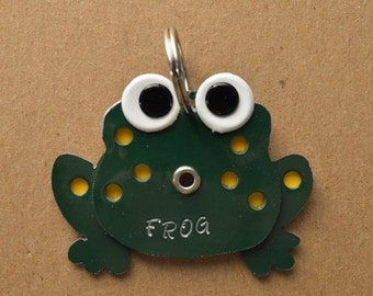 Frog Pet Tag Dog ID Metal Tadpole Animal